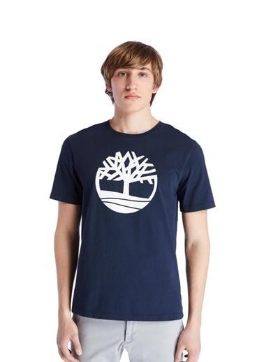 Timberland Timberland SS Kennebec River Tree Logo Tee Erkek Tişört  Lacivert Renkli